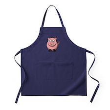 Cartoon Pig Apron (dark)