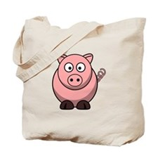 Cartoon Pig Tote Bag