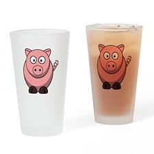 Cartoon Pig Drinking Glass