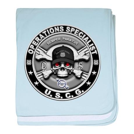 USCG Operations Specialist Sk baby blanket