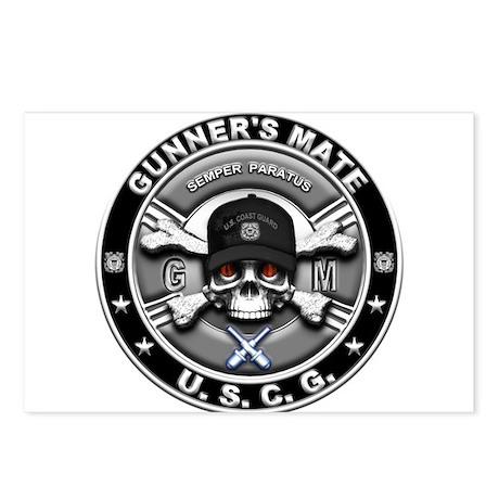 USCG Gunners Mate Skull GM Postcards (Package of 8
