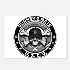 USCG Gunners Mate Skull GM Postcards (Package of 8