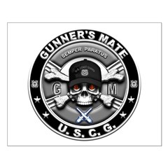 USCG Gunners Mate Skull GM Posters