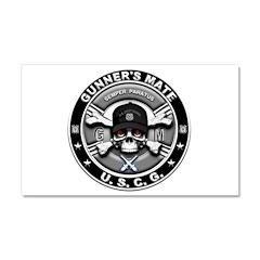 USCG Gunners Mate Skull GM Car Magnet 20 x 12