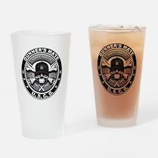 USCG Gunners Mate Skull GM Drinking Glass