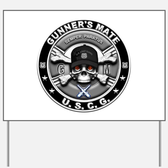 USCG Gunners Mate Skull GM Yard Sign