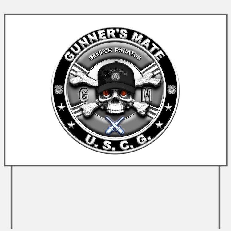 USCG Gunners Mate Skull GM Yard Sign