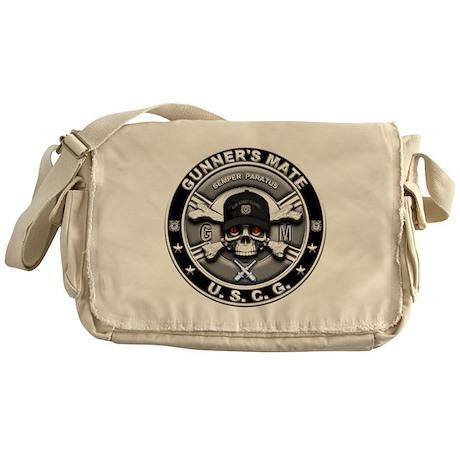 USCG Gunners Mate Skull GM Messenger Bag