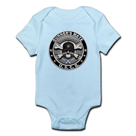 USCG Gunners Mate Skull GM Infant Bodysuit