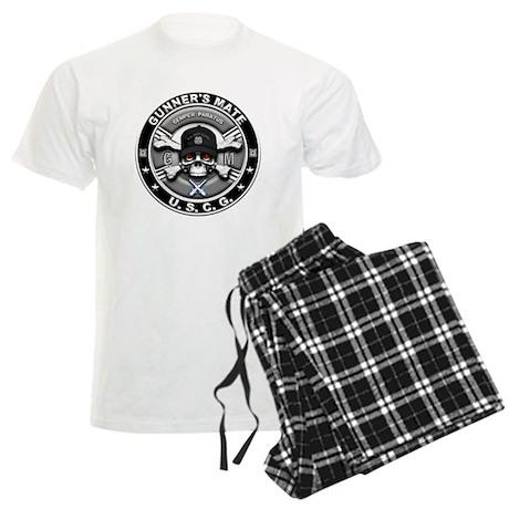 USCG Gunners Mate Skull GM Men's Light Pajamas
