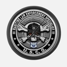 USCG Maritime Law Enforcement Large Wall Clock