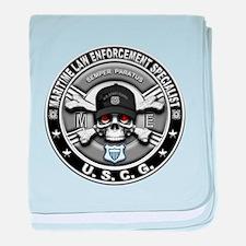 USCG Maritime Law Enforcement baby blanket