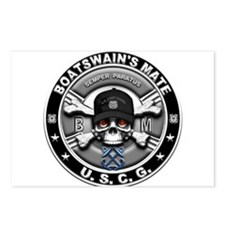 USCG Boatswains Mate Skull BM Postcards (Package o