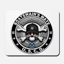 USCG Boatswains Mate Skull BM Mousepad