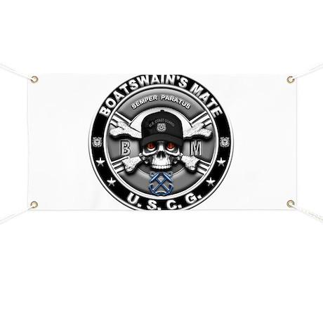 USCG Boatswains Mate Skull BM Banner