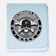 USCG Boatswains Mate Skull BM baby blanket