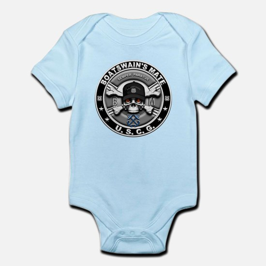 USCG Boatswains Mate Skull BM Infant Bodysuit