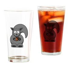 Cartoon Squirrel Drinking Glass