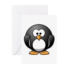 Cartoon Penguin Greeting Card