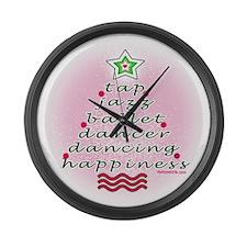 Dancers' Christmas Tree Large Wall Clock
