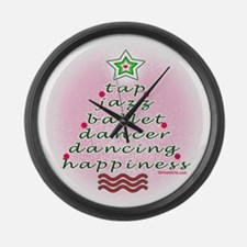 Dancers' Christmas Tree Large Wall Clock