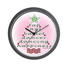 Dancers' Christmas Tree Wall Clock
