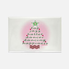 Dancers' Christmas Tree Rectangle Magnet (10 pack)