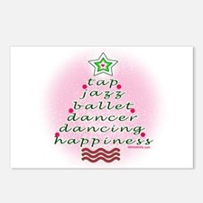 Dancers' Christmas Tree Postcards (Package of 8)