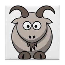 Cartoon Goat Tile Coaster