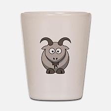 Cartoon Goat Shot Glass