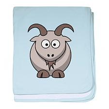 Cartoon Goat baby blanket