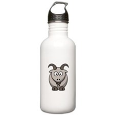 Cartoon Goat Sports Water Bottle