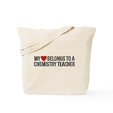 My Heart Chemistry Teacher Tote Bag