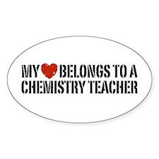 My Heart Chemistry Teacher Decal