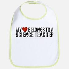 My Heart Science Teacher Bib