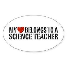 My Heart Science Teacher Decal