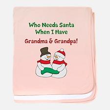 Santa Grandparents baby blanket
