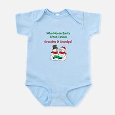 Santa Grandparents Infant Bodysuit