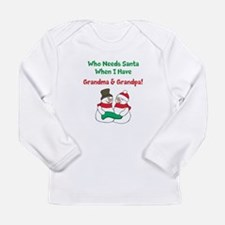 Santa Grandparents Long Sleeve Infant T-Shirt