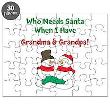 Santa Grandparents Puzzle