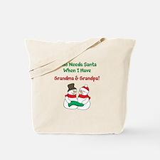 Santa Grandparents Tote Bag