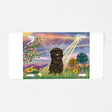 Cloud Angel / Affenpinscher Aluminum License Plate