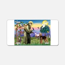 St Francis / Airedale Aluminum License Plate