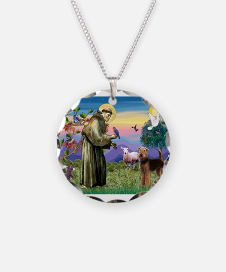 St Francis / Airedale Necklace