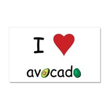 I Love Avocado Car Magnet 20 x 12