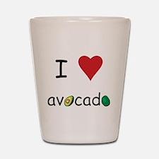 I Love Avocado Shot Glass