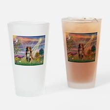 Cloud Angel / Aussie (rm) Drinking Glass