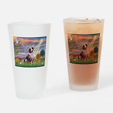 Cloud Angel / Aussie (bm) Drinking Glass