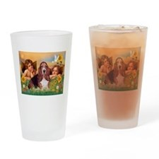 Angels & Basset Drinking Glass