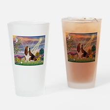 Cloud Angel & Basset Drinking Glass